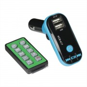 FM Modulator Optima FM-03 (Bluetooth, MicroSD, 2USB, Aux in, Call Answer)