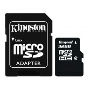 Карта памяти microSDHC 32Gb KIngston (Class 10) + Adapter SD