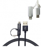 Кабель для iPhone 5 + microUSB PNGXE
