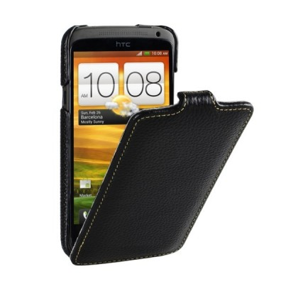 Чехол для HTC One X VettiCraft Slim Flip Black