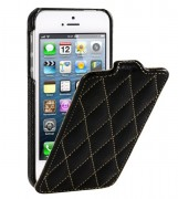 Чехол для iPhone 5 VettiCraft Slim Flip Diamond Black