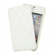 Чехол для iPhone 4S VettiCraft Slim Flip Diamond White