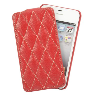 Чехол для iPhone 4S VettiCraft Slim Flip Diamond Red