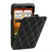 Чехол для HTC One X VettiCraft Slim Flip Diamond Black