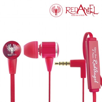 Гарнитура Red Angel In-ear Headphones Heavy Bass Red